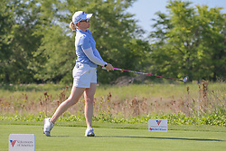 May 6, 2018 - The Colony, TX, U.S. - THE COLONY, TX - MAY 06: Morgan Pressel (USA) watches her shot from the 9th tee during the Volunteers of America LPGA Texas Classic on May 6, 2018 at the Old American Golf Club in The Colony, TX. (Photo by George Walker/Icon Sportswire) (Credit Image: © George Walker/Icon SMI via ZUMA Press)