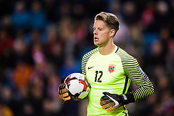October 8, 2017 - Oslo, NORWAY - 171008  Goalkeeper Ørjan HÃ¥skjold Nyland of Norway  during the FIFA World Cup Qualifier match between Norway and Northern Ireland on October 8, 2017 in Oslo..Photo: Jon Olav Nesvold / BILDBYRÃ…N / kod JE / 160041 (Credit Image: © Jon Olav Nesvold/Bildbyran via ZUMA Wire)