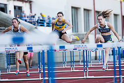 Hurldes sprint during day one of the 2020 Slovenian Cup in ZAK Stadium on July 4, 2020 in Ljubljana, Slovenia. Photo by Grega Valancic / Sportida