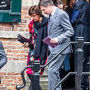 NLD/Naarden//20170414 - Matthaus Passion in de grote kerk van Naarden, Jan Peter  Balkenende en partner Bianca Hoogendijk