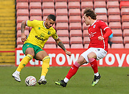 Norwich City Midfielder Onel Hernández (25) taking on a Barnsley defender during the FA Cup match between Barnsley and Norwich City at Oakwell, Barnsley, England on 23 January 2021.