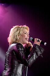 Steve Starnge (Visage)<br />Claire Grogan (Altered Images)<br />The Belle Stars<br />Dollar<br />Kim Wilde<br />The Human League<br />Play on the Here and Now  Christmas Party Tour at Sheffields Hallam FM Arena Friday 13th December 2002<br /><br /> [#Beginning of Shooting Data Section]<br />Nikon D1 <br /> 2002/12/13 22:53:07.1<br /> JPEG (8-bit) Fine<br /> Image Size:  2000 x 1312<br /> Color<br /> Lens: 80-200mm f/2.8-2.8<br /> Focal Length: 80mm<br /> Exposure Mode: Manual<br /> Metering Mode: Spot<br /> 1/200 sec - f/2.8<br /> Exposure Comp.: 0 EV<br /> Sensitivity: ISO 800<br /> White Balance: Auto<br /> AF Mode: AF-S<br /> Tone Comp: Normal<br /> Flash Sync Mode: Not Attached<br /> Color Mode: <br /> Hue Adjustment: <br /> Sharpening: Normal<br /> Noise Reduction: <br /> Image Comment: <br /> [#End of Shooting Data Section]