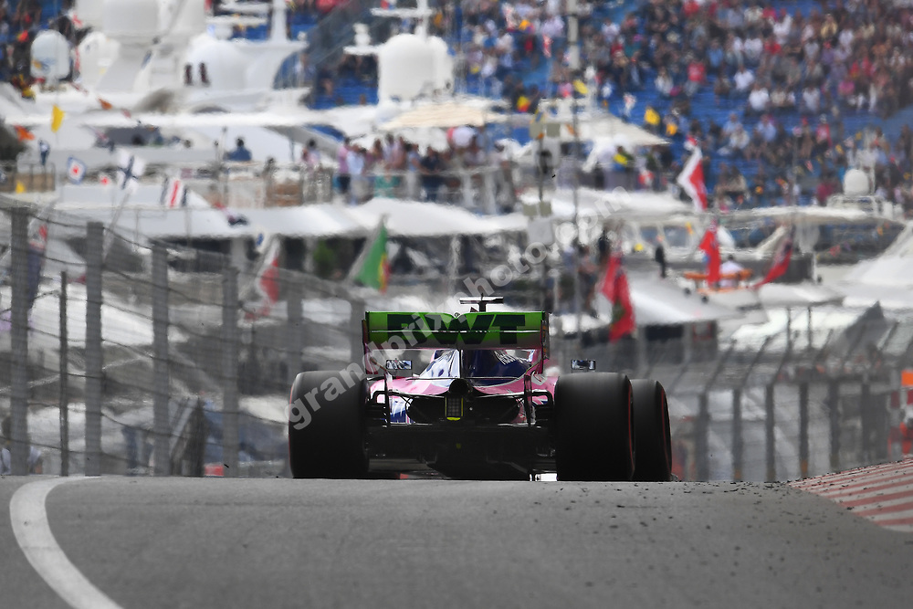Sergio Perez (Racing Point-Mercedes) during practice before the 2019 Monaco Grand Prix. Photo: Grand Prix Photo