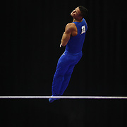 Paul Ruggeri III, Manlius, New York, in action on the Horizontal bar during the Senior Men Competition at The 2013 P&G Gymnastics Championships, USA Gymnastics' National Championships at the XL, Centre, Hartford, Connecticut, USA. 16th August 2013. Photo Tim Clayton