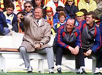 Fotball<br /> Manchester United historie<br /> Foto: Colorsport/Digitalsport<br /> NORWAY ONLY<br /> <br /> Bildene inngår ikke i nettavtalene<br /> <br /> RON ATKINSON (MAN UNITED MANAGER). WATFORD V MANCHESTER UNITED.