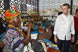 Former French Economy Minister, founder and president of the political movement En Marche ! (Underway !) and candidate for the 2017 presidential elections Emmanuel Macron visiting Point A Pitre's market in Guadeloupe, France on December 17, 2016, as part of his campaign visit in the Guadeloupe. Photo by Papixs/ABACAPRESS.COM