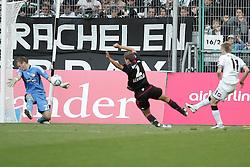 15.10.2011,  BorussiaPark, Mönchengladbach, GER, 1.FBL, Borussia Mönchengladbach vs Bayer 04 Leverkusen, im Bild.Bernd Leno (Torwart Leverkusen/Leihe aus Stuttgart) (L) pariert gegen Marco Reuss (Mönchengladbach #11) (R)  in der letzten Sekunde..// during the 1.FBL, Borussia Mönchengladbach vs Bayer 04 Leverkusen on 2011/10/13, BorussiaPark, Mönchengladbach, Germany. EXPA Pictures © 2011, PhotoCredit: EXPA/ nph/  Mueller *** Local Caption ***       ****** out of GER / CRO  / BEL ******
