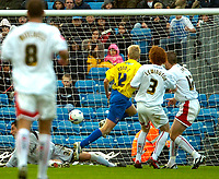 Photo: Ed Godden.<br /> Milton Keynes Dons v Hereford United. Coca Cola Championship. 21/10/2006. Alan Connell (#12) opens the scoring for Hereford.