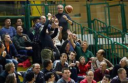 Spectators during basketball match between KK Krka Novo mesto and Pinar Karsiyaka (TUR) in 5th Round of EuroChallenge 2013 on December 4, 2012 in Arena Leon Stukelj, Novo mesto, Slovenia. (Photo By Vid Ponikvar / Sportida)