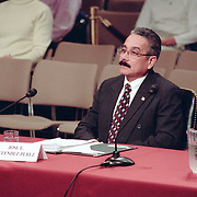 Jose Melendez-Perez, the US Immigration and Naturalization Service inspector who denied entry into the United States of the so-called 20th hijacker, Mohamed al Kahtani.9/11 Commission Hearing 7, Rm 216, Hart Senate Office Building, Washington, D.C..January 26, 2004