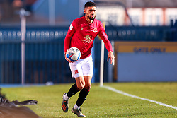 Kelvin Mellor of Morecambe prepares to take a throw-in - Mandatory by-line: Ryan Crockett/JMP - 27/02/2021 - FOOTBALL - One Call Stadium - Mansfield, England - Mansfield Town v Morecambe - Sky Bet League Two