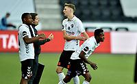 Fotball , 15. juli 2020 , Odd - Brann <br /> Mushaga Bakenga  , Odd bytter med Tobias Lauritsen