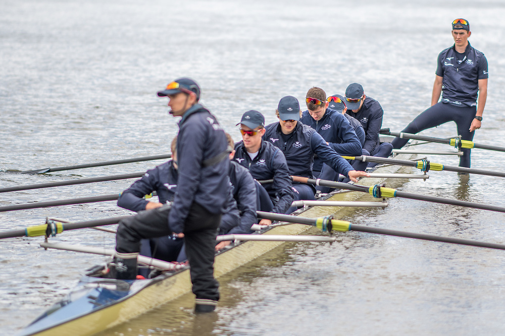 Oxford crew<br /> <br /> Crews prepare for Sunday's 165th Boat Race between Oxford and Cambridge, River Thames, London, Thursday 4th April 2019. © Copyright photo Steve McArthur / www.photosport.nz