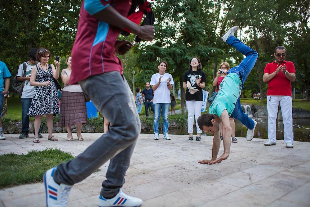 Lover's Park. Yerevan, Armenia. July 2014.