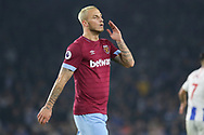West Ham United forward Marko Arnautovic (7) during the Premier League match between Brighton and Hove Albion and West Ham United at the American Express Community Stadium, Brighton and Hove, England on 5 October 2018.