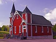 Northcentral Pennsylvania, historic Red Church, Methodist, Wellsboro, PA