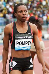 women's 200 meters, Aliann Tabitha Pompey, GUY, post race
