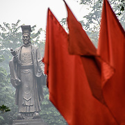 Statue of a famous scholar near Hoan Kiem Lake in Hanoi, Vietnam.