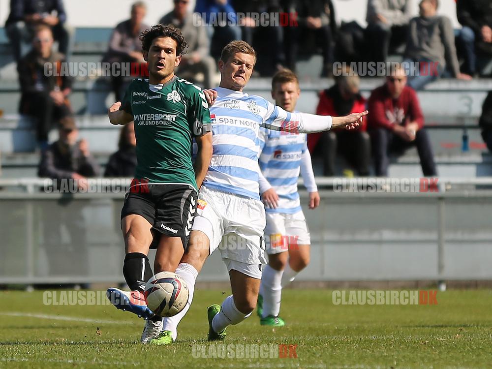 Mohammad Ali (Svebølle) presses af Jannik Zimling (FC Helsingør).