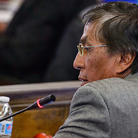 Navajo Nation council delegate Leonard Tsosie makes comments during the Navajo Nation Council session Tuesday in Window Rock.