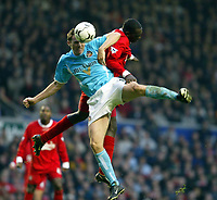 Liverpool's Emile Heskey and Sunderland's Kevin Kilbane during the Premiership match at Anfield, Liverpool, Sunday, November 17th, 2002. <br /><br />Pic by David Rawcliffe/Propaganda<br /><br />Any problems call David Rawcliffe on +44(0)7973 14 2020 or email david@propaganda-photo.com - http://www.propaganda-photo.com