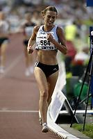 Friidrett<br /> IAAF Grand Prix II - Heusden i Belgia<br /> 02.08.2003<br /> Bente Landøy i aksjon på kvinnenes 5000 meter.<br /> <br /> Foto: Nico Vereecken, Digitalsport