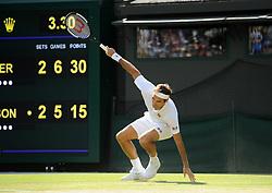 July 11, 2018 - Angleterre - Wimbledon - Roger Federer Suisse (Credit Image: © Panoramic via ZUMA Press)