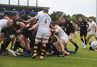 Rugby Union - 2017 / 2018 Aviva Premiership - Saracens vs. Wasps<br /> <br /> Jamie George of Saracens goes over for the second of his push over tries in the second half at Allianz Park.<br /> <br /> COLORSPORT/ANDREW COWIE