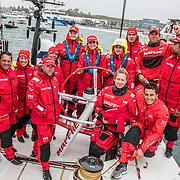 Newport stopover. Gurney's Resorts In-Port Race on board MAPFRE. 19 May, 2018.