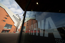 LIVERPOOL, ENGLAND - Tuesday, March 17, 2020: The closed LFC retail store at a near deserted Anfield, home of Champions-elect Liverpool Football Club, after the suspension of all football due to the Coronavirus (COVID-19) and Liverpool's decision to close it's Boot Room cafe and official stores. (Pic by David Rawcliffe/Propaganda)