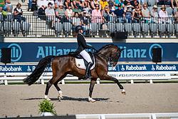 Roos Laurence, BEL, Fil Rouge<br /> European Championship Dressage<br /> Rotterdam 2019<br /> © Hippo Foto - Dirk Caremans