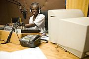Rural radio station in Builsa, Ghana on Monday October 5, 2009.