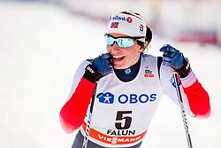 March 16, 2018 - Falun, SVERIGE - 180316 Marit BjÂ¿rgen, Norge jublar efter finalen i sprint under Svenska Skidspelen den 16 mars 2018 i Falun  (Credit Image: © Simon HastegRd/Bildbyran via ZUMA Press)