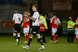 Aden Flint of Bristol City looks dejected after Crewe Alexandra win 1-0 - Photo mandatory by-line: Rogan Thomson/JMP - 07966 386802 - 20/12/2014 - SPORT - FOOTBALL - Crewe, England - Alexandra Stadium - Crewe Alexandra v Bristol City - Sky Bet League 1.
