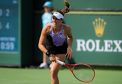 March 9, 2019 - Indian Wells, USA - Monica Puig of Puerto Rico in action during her second-round match at the 2019 BNP Paribas Open WTA Premier Mandatory tennis tournament (Credit Image: © AFP7 via ZUMA Wire)