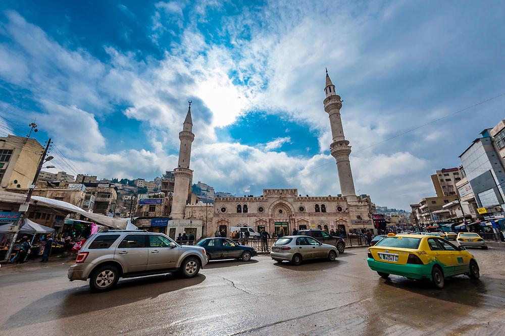 Al Husseini Mosque, Downtown Amman, Jordan.