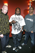 l to r: Krondon(S.A.S),), Mitchy Slick(S.A.S), and Phil the Agony(S.A.S) at The Sony HipHop Live Tour featuring Talib Kweli and David Banner held at The Nokia Theater on October 25, 2008 in NYC
