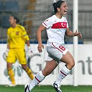 Turkey's Yesim DEMIREL during their UEFA 2013 Woman's Euro Qualifying Group Stage Group 2 soccer match Turkey betwen Spain at Kasimpasa Recep Tayyip Erdogan stadium in Istanbul September 17, 2011. Photo by TURKPIX