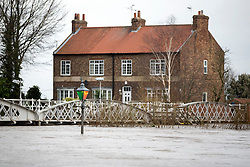 © Licensed to London News Pictures. 30/12/2015. Cawood UK. Water levels are still dangerously high in the village of Cawood in Yorkshire & the region is expecting more rainfall with the arrival of Storm Frank. Photo credit: Andrew McCaren/LNP