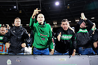 Football - 2021 / 2022 UEFA Europa League - Group H - Round Two - West Ham United vs Rapid Vienna - London Stadium - Thursday 30th September<br /> <br /> Rapid Vienna fans protest at being photographed.<br /> <br /> COLORSPORT/Ashley Western