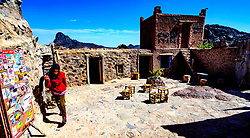 The cafe at the top of the Tizi N'Tazezert pass in the Atlas Mountains, Morocco - altitude 2,300 meters<br /> <br /> (c) Andrew Wilson   Edinburgh Elite media