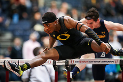 Don Kirby Invitational Indoor Track & Field<br /> Albuquerque, NM, Feb 14, 2020<br /> mens 60m hurdles heats, Oregon