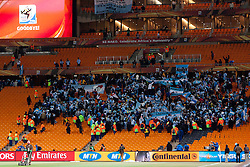 Argentina Fans celebrate after the 2010 FIFA World Cup South Africa Round of Sixteen match between Argentina and Mexico at Soccer City Stadium on June 27, 2010 in Johannesburg, South Africa. (Photo by Vid Ponikvar / Sportida)