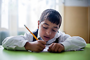 Pupil in one of the local schools in Frumusina. In Frumusani, the Roma Education Fund—supported by the World Bank, Open Society Foundations, the European Union, and other donors—is working to remove the barriers local Roma children face to complete their primary school education.