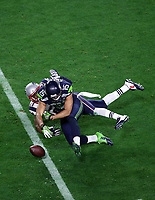 NFL<br /> Super Bowl<br /> 01.02.2015<br /> Foto: imago/Digitalsport<br /> NORWAY ONLY<br /> <br /> Seattle Seahawks wide receiver Jermaine Kearse 15 can t haul in a pass while being defended by New England Patriots strong safety Malcolm Butler 21 during the second half of Super Bowl XLIX between the Seattle Seahawks and the New England Patriots at University of Phoenix Stadium in Glendale, Az. The New England Patriots beat the Seattle Seahawks 28-24.