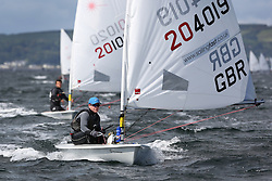Day 4 NeilPryde Laser National Championships 2014 held at Largs Sailing Club, Scotland from the 10th-17th August.<br /> <br /> 204019, Jamie CALDER<br /> <br /> Image Credit Marc Turner