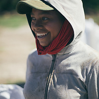 A young woman working on a coffee farm for the COMSa coop, Marcala, Honduras