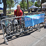Free valet parking enables Cyclovia riders to enjoy the activity center at 4th Avenue and 22nd Street
