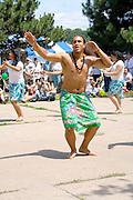 Asian American Pacific Rim Islanders performing ceremonial dance. Dragon Festival Lake Phalen Park St Paul Minnesota USA