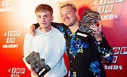 Qmusic Top 40 Awards 2020 Bij Qmusic in Amsterdam.<br /> <br /> Op de foto: Beste Nieuwkomer 2019: Snelle  en Gers Pardoel